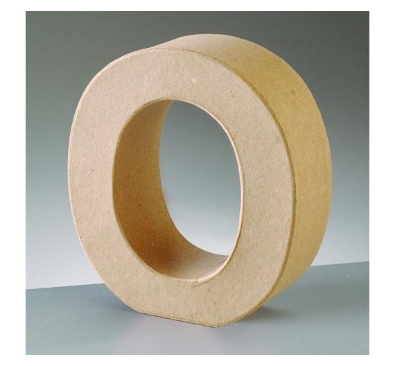 Letras de cartón  tamaño de 18  x 13 x 5,5 cm  modelo O
