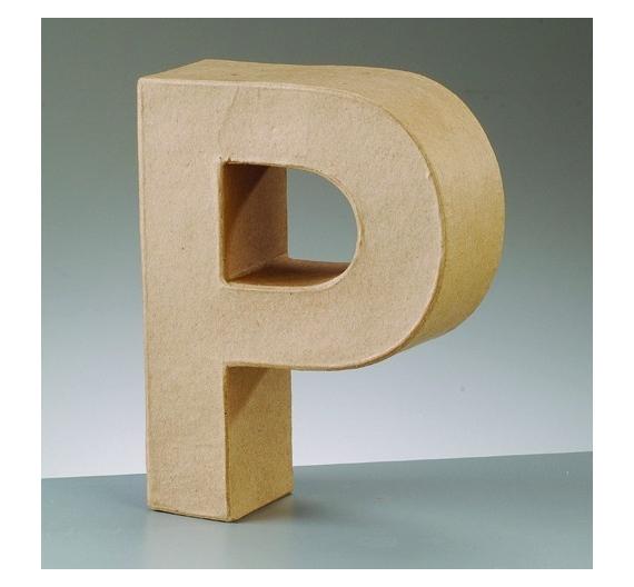 Letras de cartón  tamaño de 17,5 x 17,5 x 5,5 cm modelo P