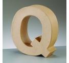 Letras de cartón  tamaño de 17,5 x 17,5 x 5,5 cm modelo Q
