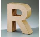 Letras de cartón  tamaño de 17,5 x 17,5 x 5,5 cm modelo R