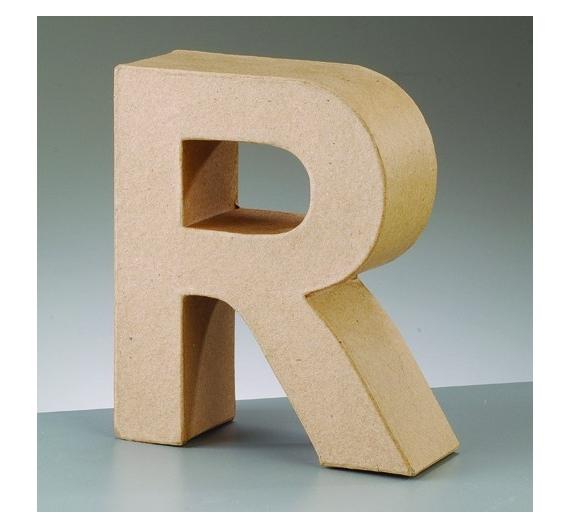 Letras de cartón  tamaño de 18  x 13 x 5,5 cm modelo R