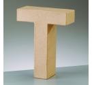 Letras de cartón  tamaño de 17,5 x 17,5 x 5,5 cm modelo T