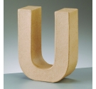 Letras de cartón  tamaño de 17,5 x 17,5 x 5,5 cm modelo U