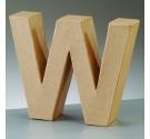 Letras de cartón  tamaño de 17,5 x 17,5 x 5,5 cm modelo W