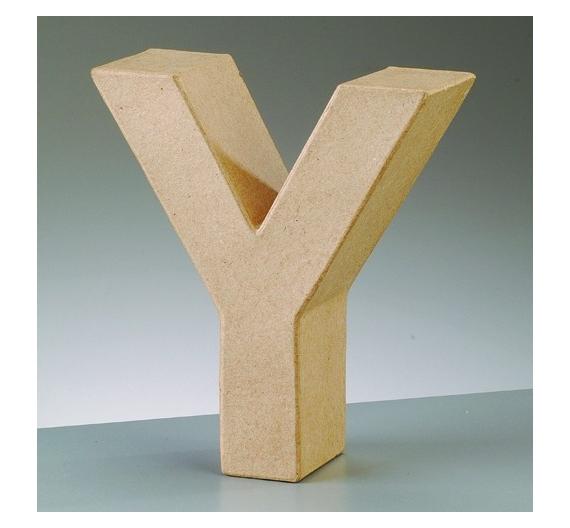 Letras de cartón  tamaño de 17,5 x 17,5 x 5,5 cm modelo Y