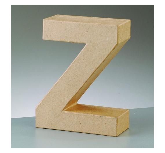 Letras de cartón  tamaño de 17,5 x 17,5 x 5,5 cm modelo Z