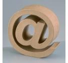 Letras de cartón  tamaño de 17,5 x 17,5 x 5,5 cm modelo @