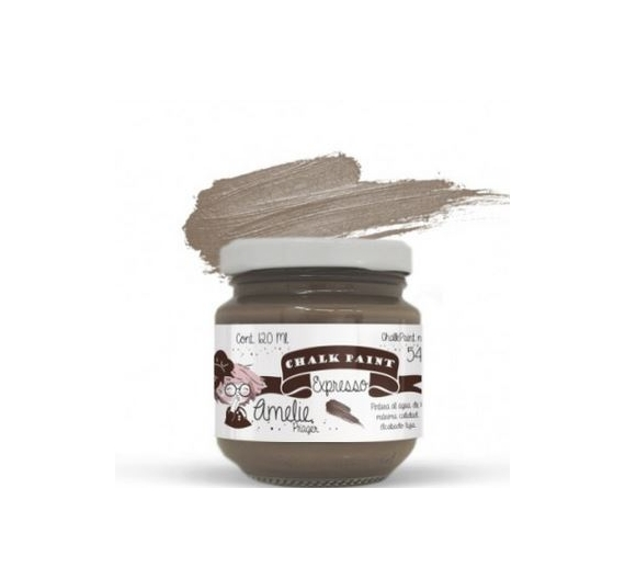 Chalk Paint Amelie de 120 ml color Expresso