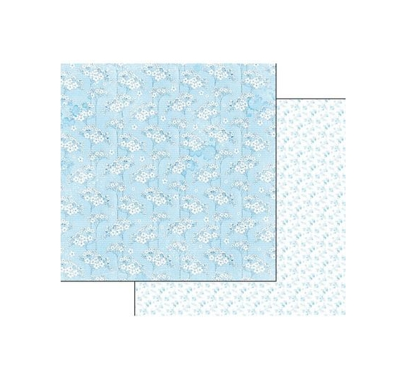 "Block 10 sheets 30.5x30.5 (12""x12"") Double Face Baby Boy"