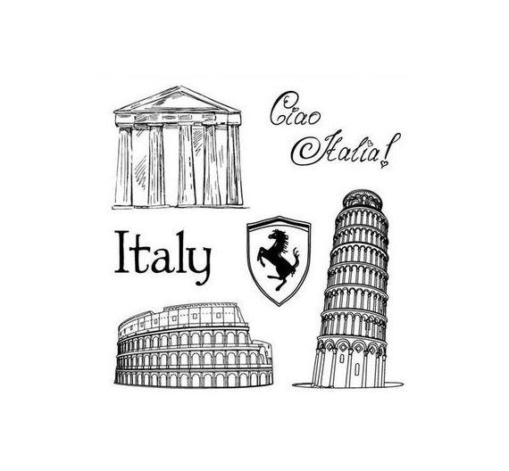 Set de sellos silicona Italia