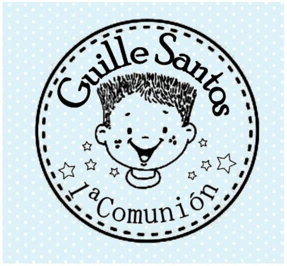 Sello Comunión personalizable Guille