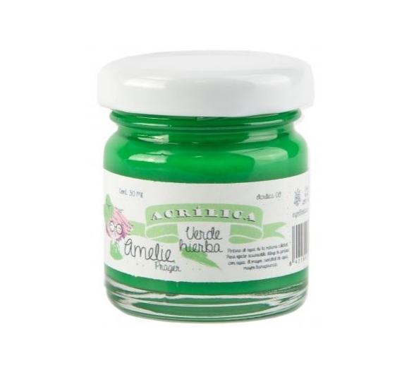 Pintura Acrilica Amelie de 30 ml Verde Hierba