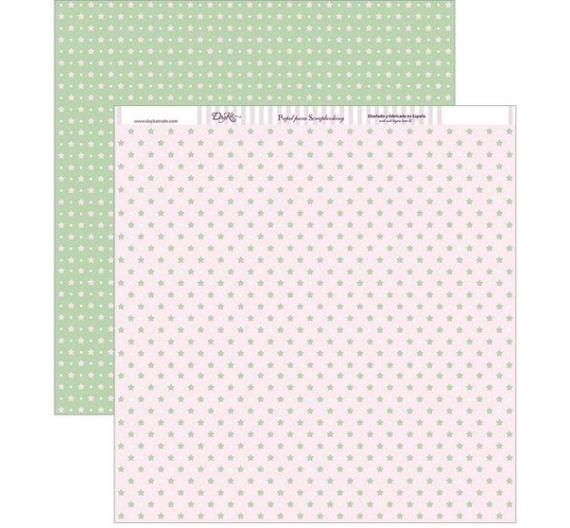 Papel  Dayka Trade Colección Niña Estrellas verdes