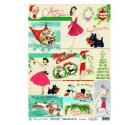 Papel de Arroz 30x 41 cm Amelie Merry Christmas