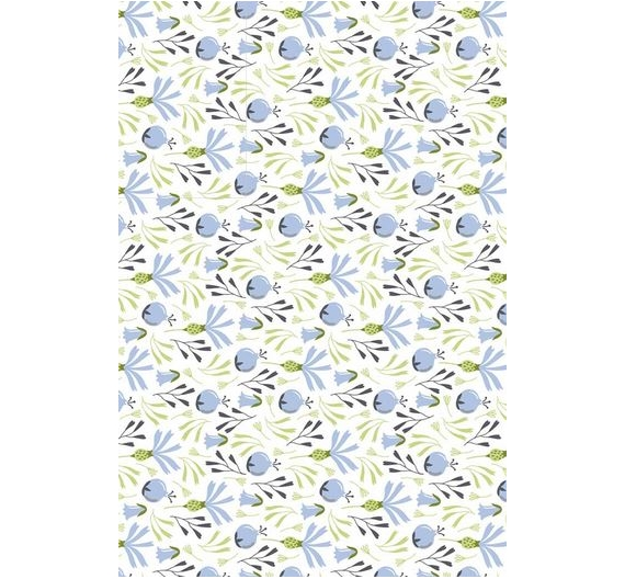 Papel especial para cartonaje de 32 x 46cm ,Blue Berries