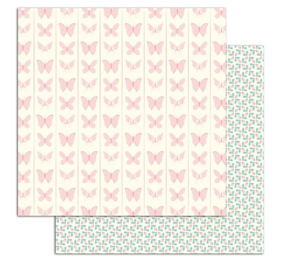 Papel Paulette de doble cara Mini Flores