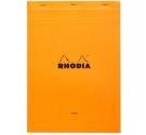 Bloc Rhodia con grapa A4 Naranja Hoja Lisa , Nº 18