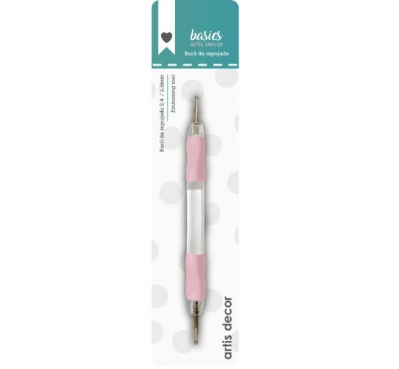BURIL DOBLE 2,4-2,8mm  color rosa