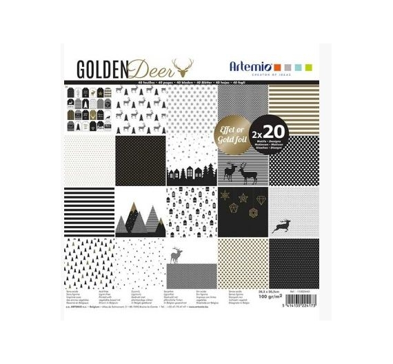 Set 40 papeles Golden Deer de Artemio