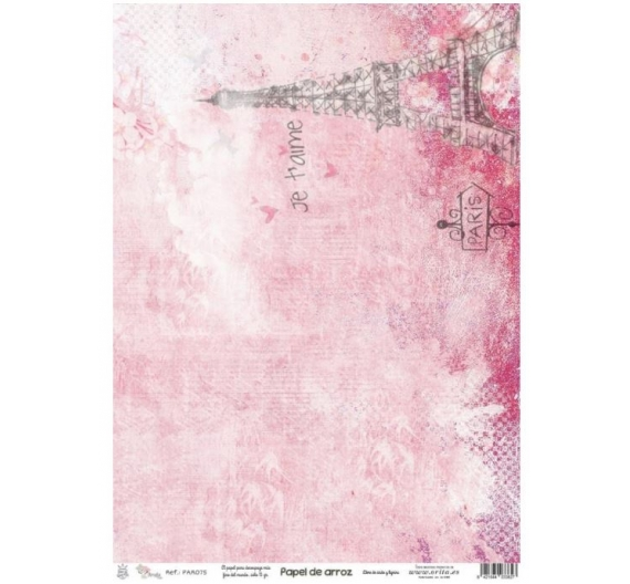 Papel de Arroz 30x 41 cm Amelie Paris