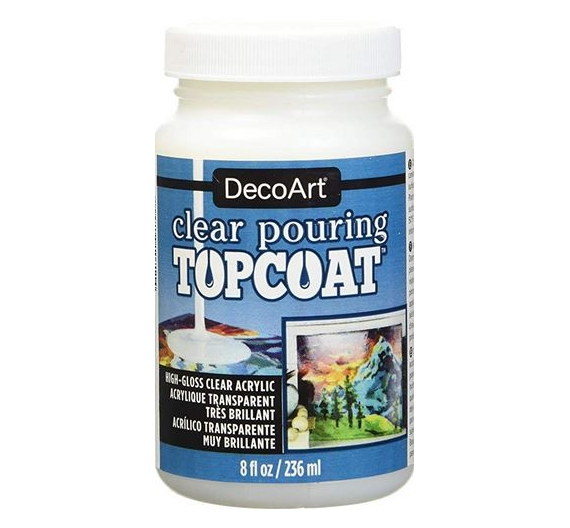 Clear Pouring Topcoat Decoart 236cc