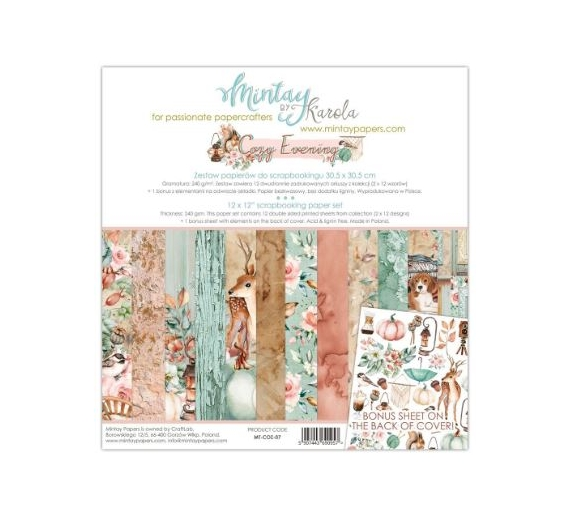 MINTAY BY KAROLA SET PAPEL 12x12 - Cozy Evening