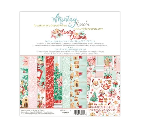 MINTAY BY KAROLA SET PAPEL 12x12 - Sweetest Christmas
