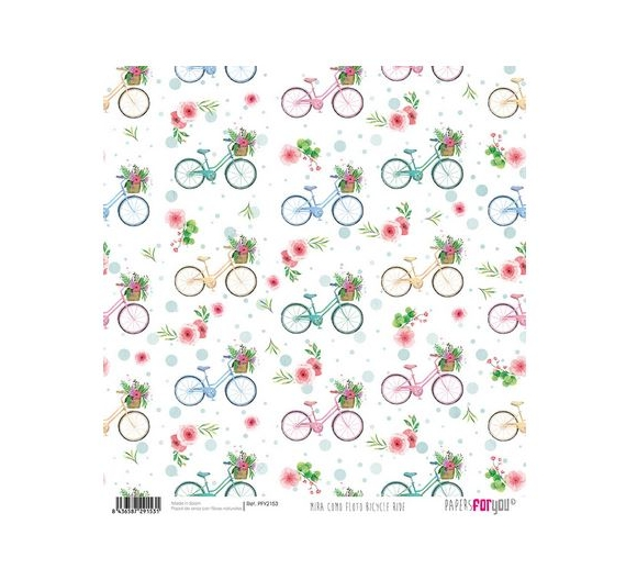 Papel de Arroz de 30,5 x 30,5 , Bicycle