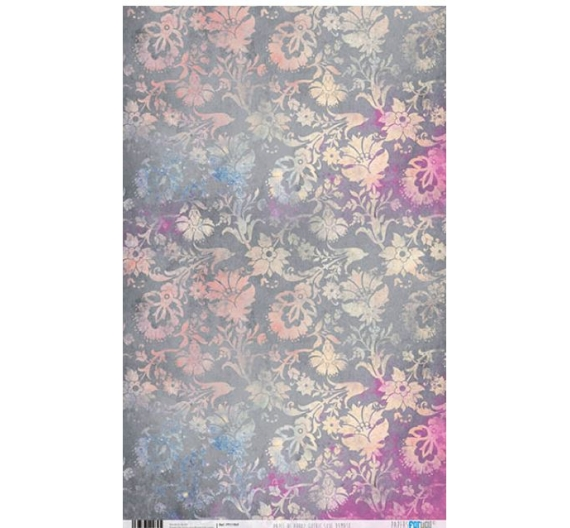 Papel de Arroz de 54 x 33 cm ,Damask