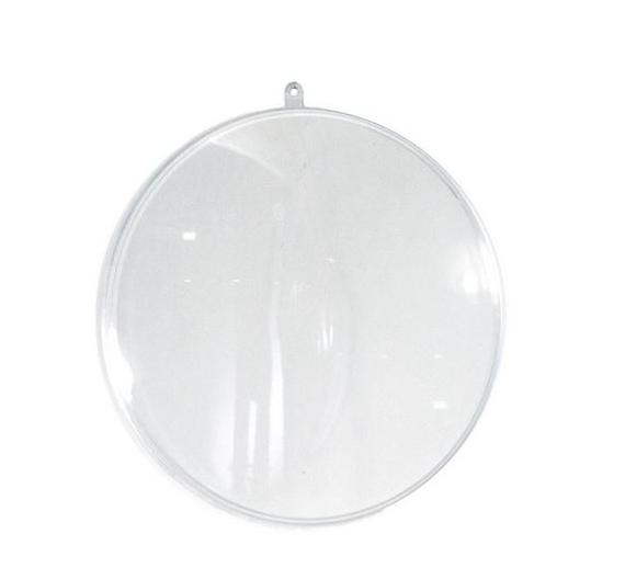 Medallón de metacrilato transparente de 10 x 4 cm
