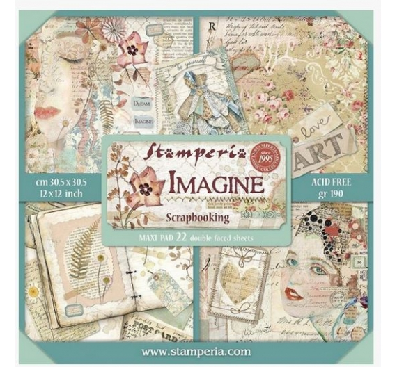 Set de 22 papeles  Stamperia Imagine