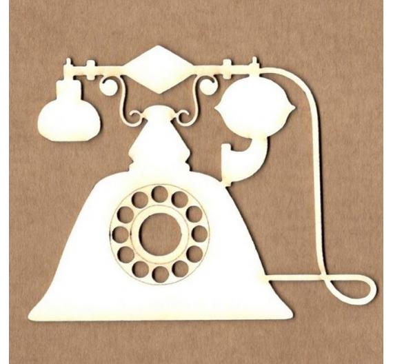 Chipboard Kora projets Teléfono vintage