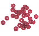 Lentejuela transparente rojo 7mm. 5gr. 375u. Aprox.