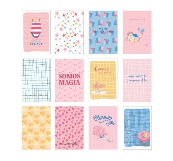 Vellum Cards EL MEJOR VERANO 12 tarjetas de Sami Garra