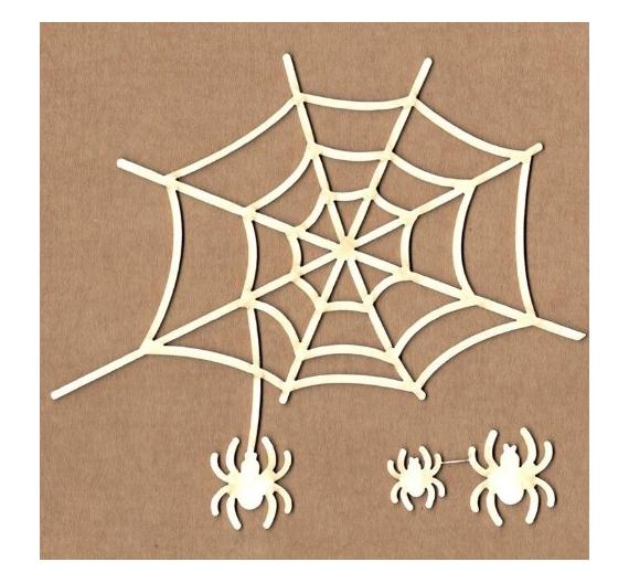 Chipboard Kora projets Telaraña con arañas