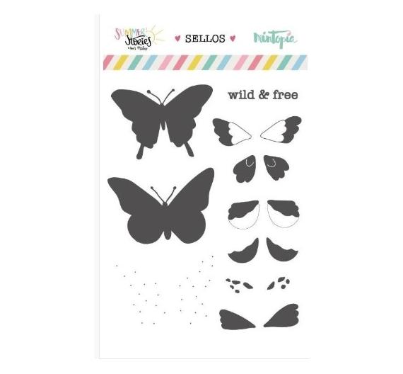 Set de sellos Mariposas de verano