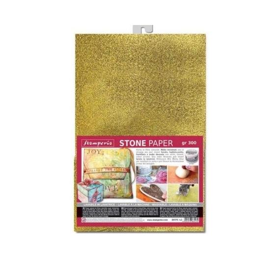 Stone paper A4 Oro
