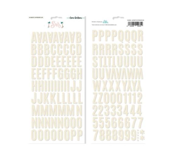 Alfabeto chipboard SUR