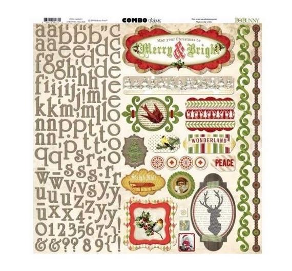 Combo stickers de Bobunny colección Crhistmas Collage