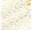 Acetato con foil de Kora Projects ,Houses Oro