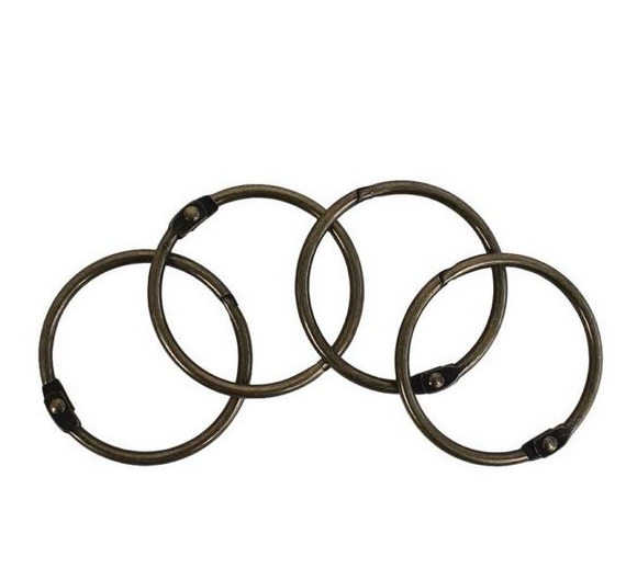 SET 4 ANILLAS ARTIS DECOR 44mm. BRONCE