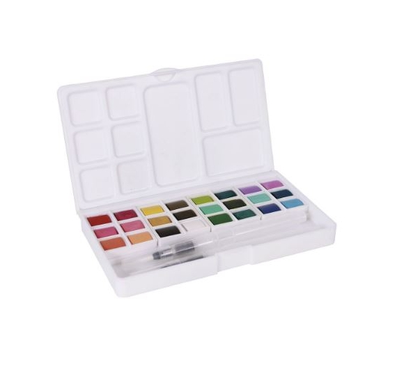 WAD21 ACUARELA JOURNAL SET Artis Decor. 24 COLORES 1/2 GODET
