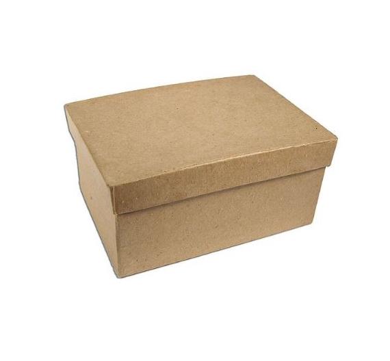 Caja papel maché rectangular 20 cm