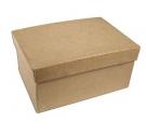 Caja papel maché rectangular 25 cm