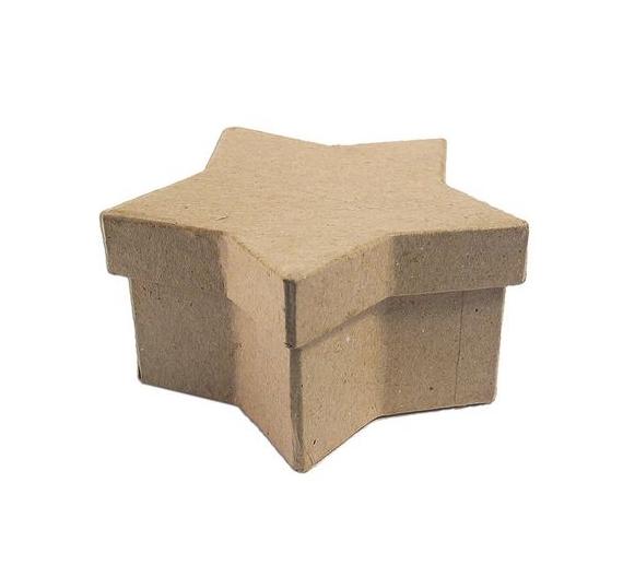 Caja papel maché estrella 18 cm