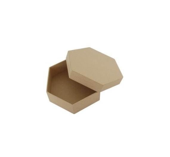 Caja papel maché hexagonales 19 cm