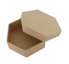 Caja papel maché hexagonales 17 cm