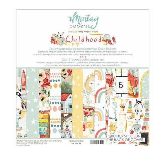 MINTAY BY KAROLA SET PAPEL 12x12 - Childhood
