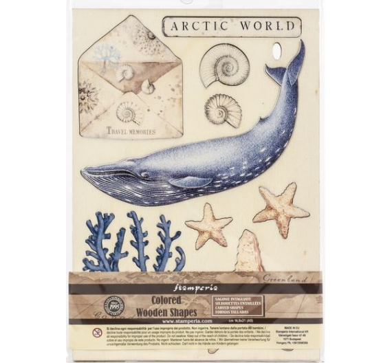 Stamperia Wooden Shapes A5-Arctic World, Arctic Antarctic