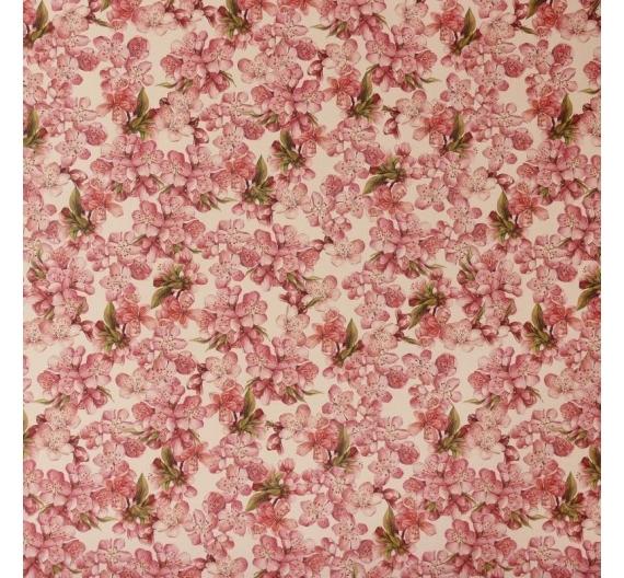 Papel para decoupage  y encuadernacion 50 x 70 cm ,85gr de Tassotti Modelo Flor de Cerezo